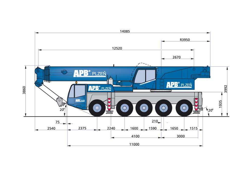 Demag AC 100 and LIEBHERR LTM 1100-4 2crane »