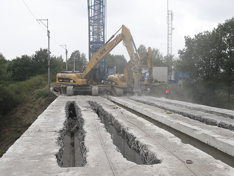 Bridge Demolition In Milikov